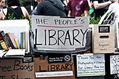 Occupy Wall St.: People's Library by A. Strakey (CC by-nc-nd)